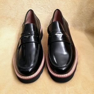 Coach Patent Penny Loafers (Black) I-2